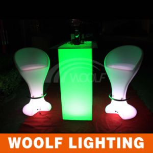 2016 Outdoor LED Middle Bar Table LED Bar Stools pictures & photos