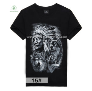 Factory Direct Fashion Short Sleeve 3D Printed Cotton Men T-Shirt pictures & photos