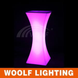 Plastic RGB Colorful Bar Furniture LED Outdoor Table pictures & photos