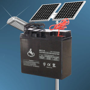 12V 17ah Maintenance Free AGM Solar Battery with Ce