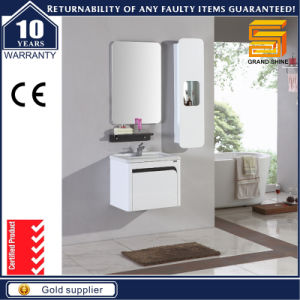 European Style MDF White Painting Bathroom Vanity Cabinet pictures & photos