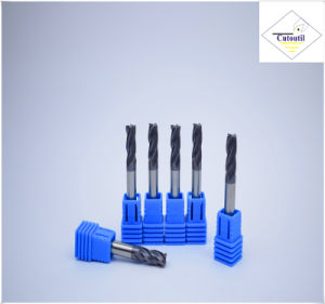 Cutoutil HRC45 Tialn Coating D5*13*D6*50  2f/4f for Steel CNC Machining Part   Square  Carbide End Mills Tools pictures & photos