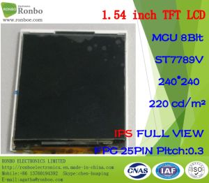 1.54 Inch IPS 240X240 MCU 8bit 25pin TFT LCD Screen for Smart Wristband pictures & photos