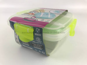 Food Container Plastic Microwave Bento Box Cool Lunch Box pictures & photos
