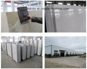 Hot Sale Brown Color Quartz Stone Big Slab for Countertop/Vanity Top/Table Top pictures & photos