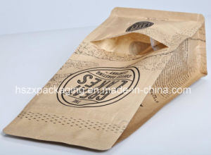 4-Side Sealing Packaging Snack Food Coffee Paper Bag pictures & photos