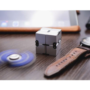 Custom Magic Plastic Metal Infinity Puzzle Toys Fidget Cube for Stress Relief Spinner pictures & photos