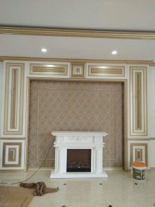 PU Fireplace for Interior Home Decor pictures & photos
