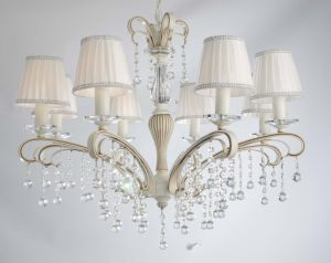 Decorative White Fabric Crystal Chandelier pictures & photos