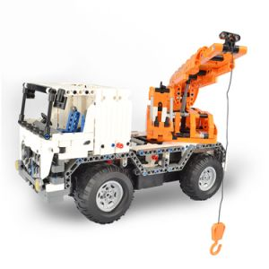 57351013W-2 in 1 RC Mobile Crane Building Blocks Kits 2.4G Engineering Model DIY Construction Toys pictures & photos