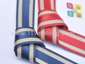 Pure Nylon Mix Spun Gold Webbing for Bag Accessories pictures & photos