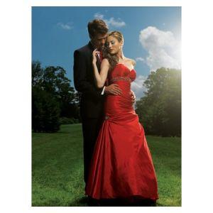 a-Line Sweetheart Sweep Satin Evening Dress Floor-Length Party Dress
