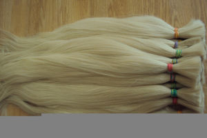"New Most Blonde Color Human Hair Bulk/Weaving14--26"" pictures & photos"