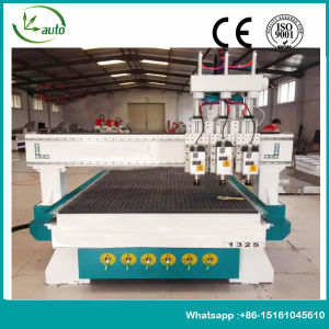 Three Head Air Cooling 1325 CNC Router Machine pictures & photos