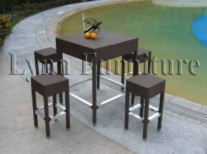 Bar Chair and Table Set (LN-065) pictures & photos