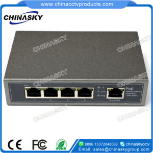 CCTV Security System 4poe+1fe Ports Poe Switch (POE0410) pictures & photos