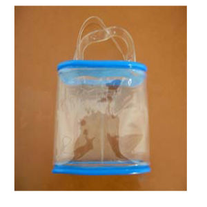 PVC Jelly Bag With Two Clear Handles