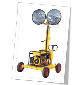 Metal Halide Mobile Lighting Tower with Water-Cooled Diesel Generator pictures & photos
