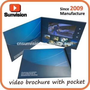 "Hardcover 7"" LCD Invitation Video Greeting Music Card pictures & photos"