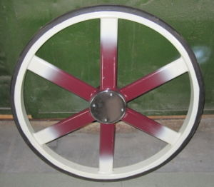 Horse Cart Steel Wheels With Heavy Solid Flat Rubber Tire (GW-WHEEL03)