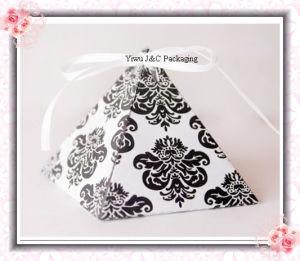 Hot Damask Pyramid Wedding Favor Boxes / Wedding Gift Boxes (JCO-392A)