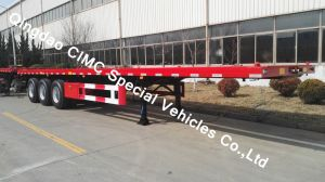Cimc 40FT Flatbed Semi Trailer with 3 Axle for Sale Truck Chassis pictures & photos
