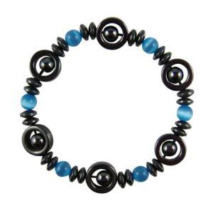 Magnetic Hematite Cat Eye Bracelet