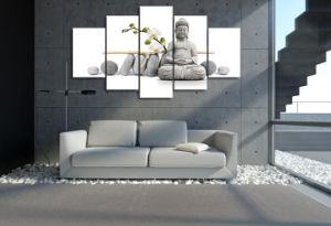 HD Printed Stone Buddha Painting Canvas Print Room Decor Print Poster Picture Canvas Mc-053 pictures & photos
