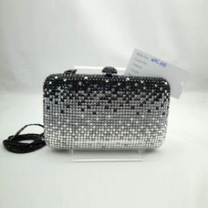 Crystal Evening Bag (WHC335-1BLK+SILVER+GREY)