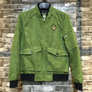 Fashion Light Weight Camo Green Man Bomber Jacket pictures & photos