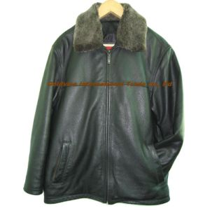 Men′s Leather Garment (LAMB BUBBLE BION 001)