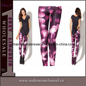 Fashion New Design Fashion Jelly Fish Purple Leggings (D061) pictures & photos