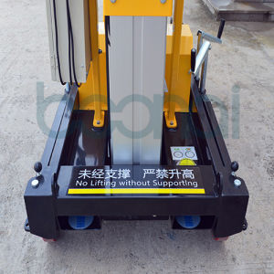 Double Masts Aerial Work Platform Max Height of Platform (6m) pictures & photos