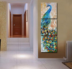 3 Pieces Wall Art Peacock Painting Wall Art Print Painting Home Decoration Pictures Print on Canvas Framed Art Mc-213 pictures & photos