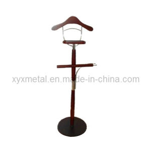 Metal Chromed Steel Rack Stand and Wooden Suit Hanger pictures & photos