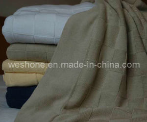 100% Soft Cotton Knitted Blanket pictures & photos