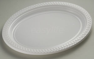 Easylife V3023 (30X23cm) PS Oval Plate White pictures & photos