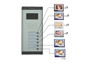 6 Apartment Video Door Phone Intercom System