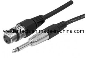 """XLR 3pin Female to 1/4"""" Mono Trs Microphone Cable pictures & photos"""