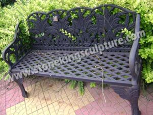Cast Iron Bench, Artistic Garden Benches, Chair and Table (SK-7381) pictures & photos