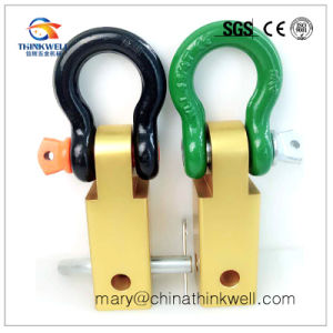 Aluminum Alloy Tow Bar Shackle D-Ring Recovery Hitch Receiver pictures & photos
