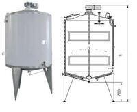 S31603/S30408 Stainless Steel Cooling and Heating Tank