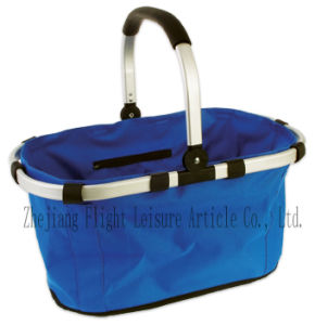 Folding Handle Shopping Basket
