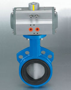 Pneumatic Actuatoe With Wafer Butterfly Valve