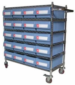 Wire Shelving Trolley for Shelf Storage Bins (WST19-5214) pictures & photos