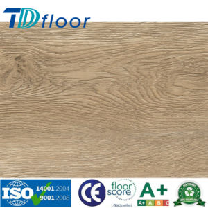 Wood Grain PVC Vinyl Flooring for Office / Supermarket/School pictures & photos