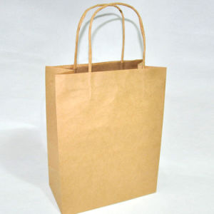 Brown Printed Kraft Paper Bags for Shoe and Clothing pictures & photos