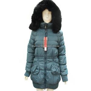 Ladies New Style Fur Hood Waist Cord Winter Jacket Overcoat pictures & photos