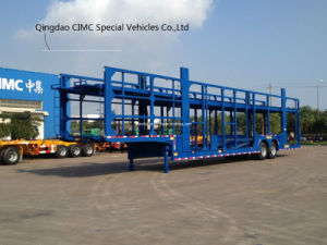 Cimc Car Carrier with Bogie Suspension Truck Chassis pictures & photos