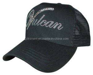 Leopard Print Heated Rhinestuds Leisure Trucker Cap (TRT045) pictures & photos